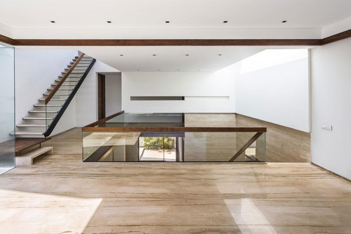 کف اتاق ها در خانه مدرن